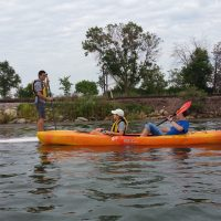 2016 Ice Cream Float Khoa and kayakers