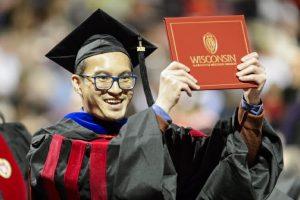 Khoa graduates.